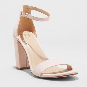 A New Day Ema Block-Heel Pumps, Blush -Multi Sizes